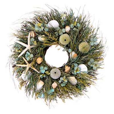 Urban Florals Caribbean Blue Wreath