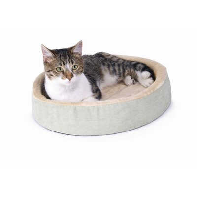 Cuddle Up Heated Cat Bed in Sage