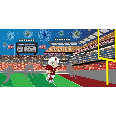Mona Melisa Designs Football Boy Wall Mural