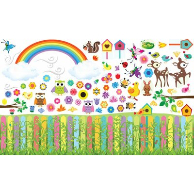 Mona Melisa Designs Peel and Play Flower Garden Wall Play Set