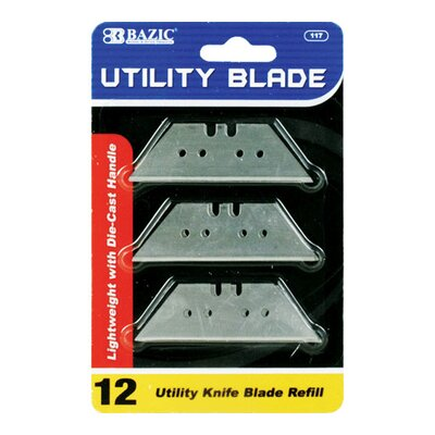 Bazic Utility Knife Replacement Blade (Set of 12)