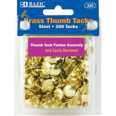 Bazic 200 Ct.Thumb Tack Set