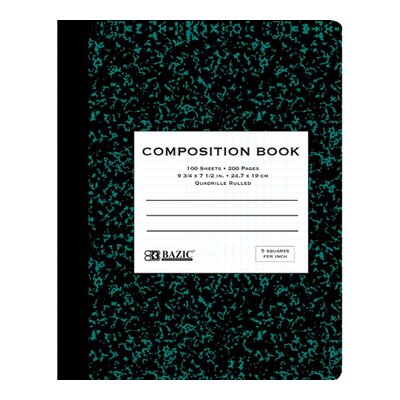 Bazic Quad-Ruled Marble Composition Book (Set of 48)