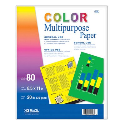 Bazic Multi Color Multipurpose Paper (Set of 50)