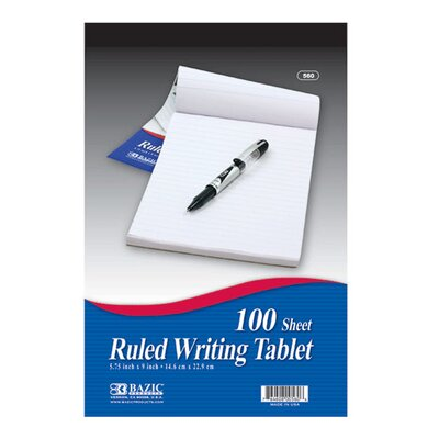 Bazic Ruled Writing Tablet (Set of 48)