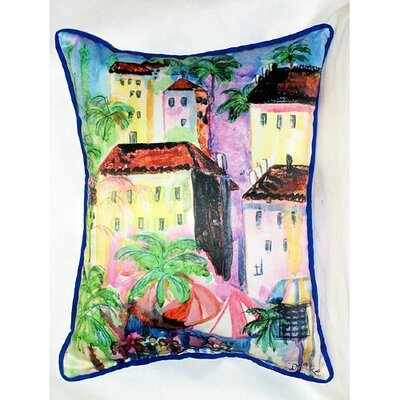 Betsy Drake Interiors Coastal Fun City II Indoor / Outdoor Pillow