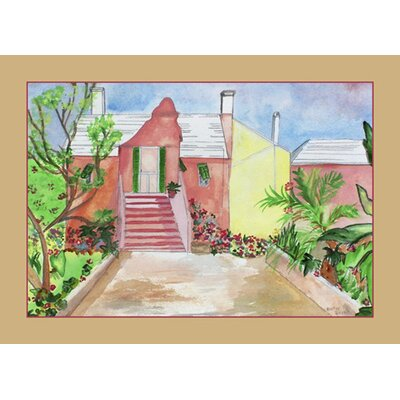 Betsy Drake Interiors Orange House Place Mat (Set of 4)