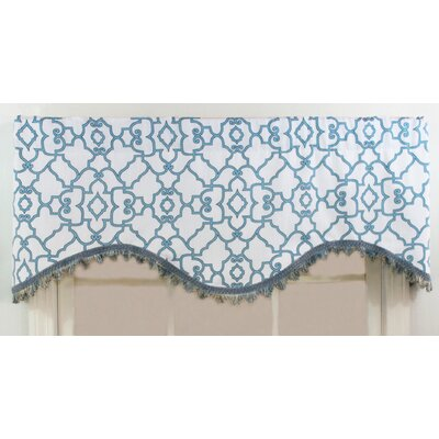 RLF Home Garden Gate Shaped Cotton Rod Pocket Scalloped Curtain Valance