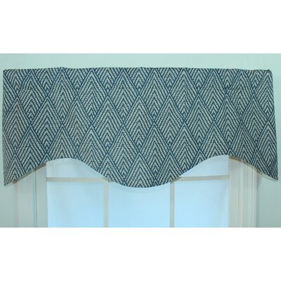 RLF Home Tahitian Stitch Shaped Cotton Rod Pocket Scalloped Curtain Valance