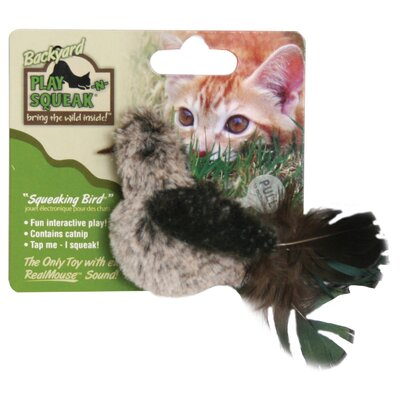 Play-N-Squeak Backyard Bird Cat Toy