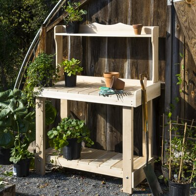 Rustic Natural Cedar Furniture Cedar Potting Bench Planter