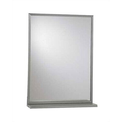 Steel Chan-Lok Angle Frame Mirror with Shelf, 24