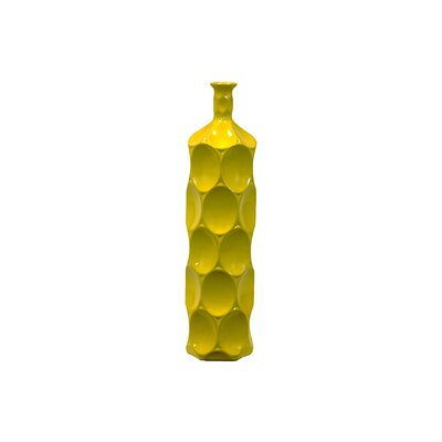 Urban Trends Yellow Ceramic Bottle