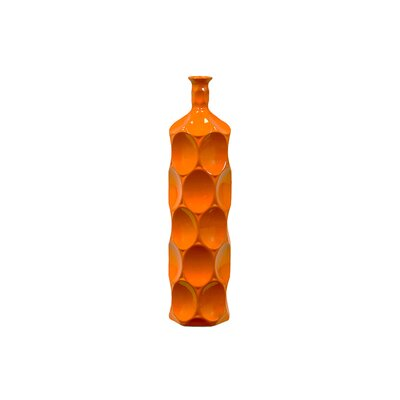 Urban Trends Sunset Orange Bella Ceramic Bottle