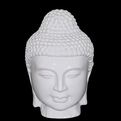 Urban Trends 11&quot; White Ceramic Buddha Head Statue