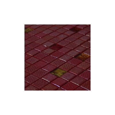 "Onix USA Fuse Glass FU050 13"" x 13"" Glass Mosaic in Red"