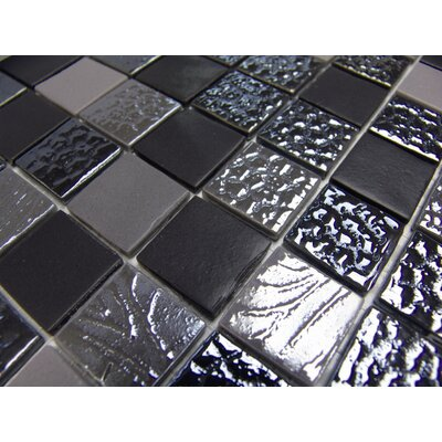 "Onix USA Nature Blend 13"" x 13"" Glass Mosaic in Manati"