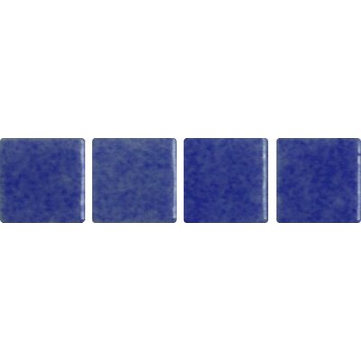 "Onix USA Nieve Antislip 12-1/5"" x 18-1/10"" Glass Mosaic in Azul Marino"