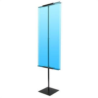 "Pinquist Tool & Die 90"" Vertical Double-Sided Banner Stand"