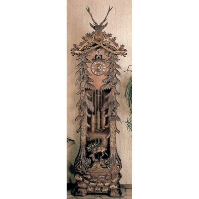 River City Clocks Grandfather Clock with Deer Carving Design