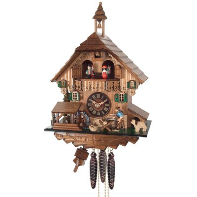 One Day Musical Cottage Cuckoo Clock