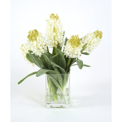 Distinctive Designs Silk Hyacinths in Square Vase