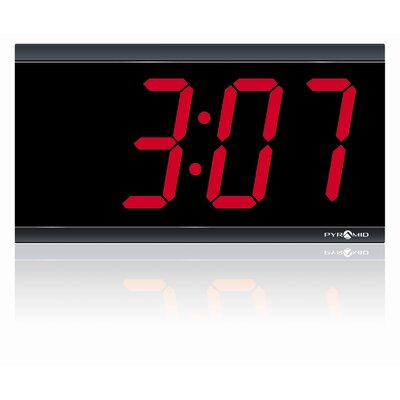 Pyramid 4&quot; 4 Digit LED 120V Wireless Clock