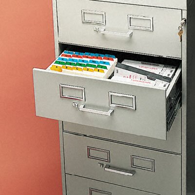 Tennsco Corp. 7-Drawer Multimedia Cabinet for 5 X 8 Cards, 19-1/8W X 52H