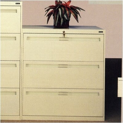 Tennsco Corp. Lateral File With 3 Drawers and Retractacle Doors