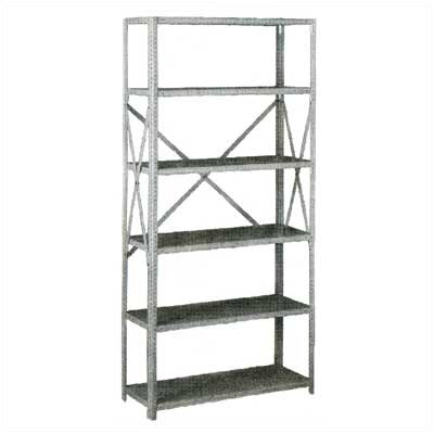 Tennsco Corp. Q Line Box-Formed Shelf Kit, 6 Shelves