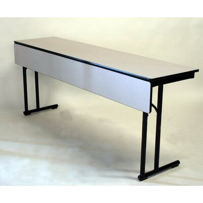 Maywood Furniture C-Leg Series Laminate Rectangle Training Table with Modesty Panel