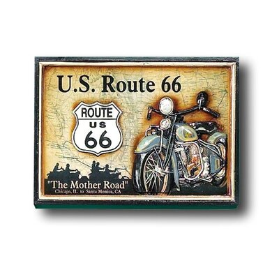 Hand-Carved Route 66 Picture