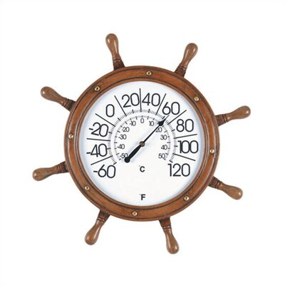 RAM Gameroom Products Captains Wheel Outdoor Thermometer