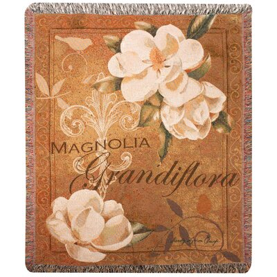 Manual Woodworkers & Weavers Grandiflora Tapestry Cotton Throw