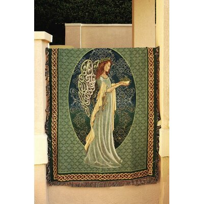 Manual Woodworkers & Weavers Irish Angel Tapestry Cotton Throw
