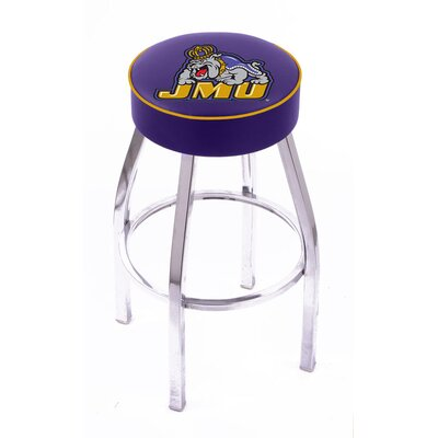 Holland Bar Stool NCAA Single Ring Swivel Barstool with Chorme Base