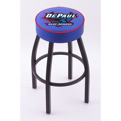 Holland Bar Stool NCAA Single Ring Swivel Barstool with Black Base