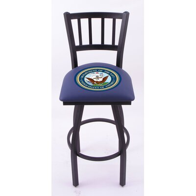 Holland Bar Stool US Military Jailhouse-Back Barstool