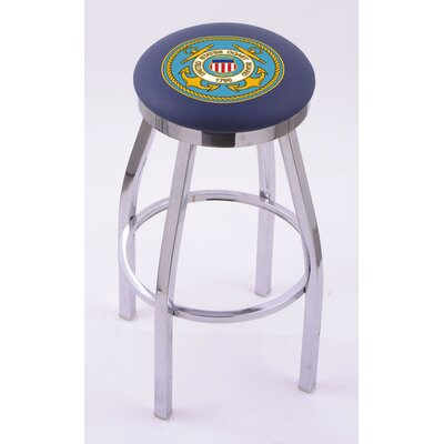 Holland Bar Stool US Military Single Chrome Ring Swivel Barstool