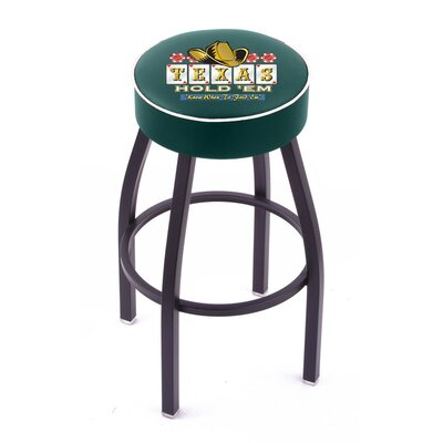 Holland Bar Stool Gambling Single Ring Swivel Barstool with Black Base