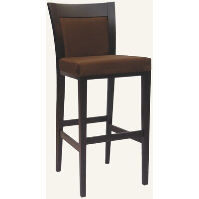 Designer Jordon Solid Hardwood Stationary Bar Stool