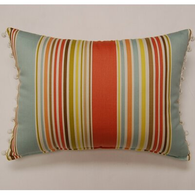 Dakotah Pillow Deck Chair Ball Fringe Sea Glass Cotton Pillow (Set of 2)
