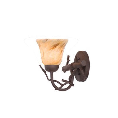 Kalco Vine 1 Light Wall Sconce