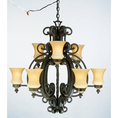 Kalco Hamilton 9 Light Chandelier