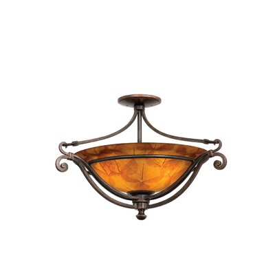 Kalco Somerset 3 Light Semi Flush Mount