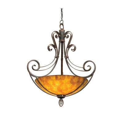 Kalco Mirabelle 6 Light Bowl Inverted Pendant