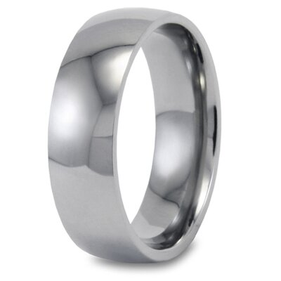Men's Titanium Highly Polished Domed Ring