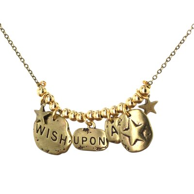 Goldtone Charm 'Wish Upon A Star' Necklace