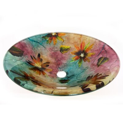 Spring Flowers Vessel Bathroom Sink - ZA-184
