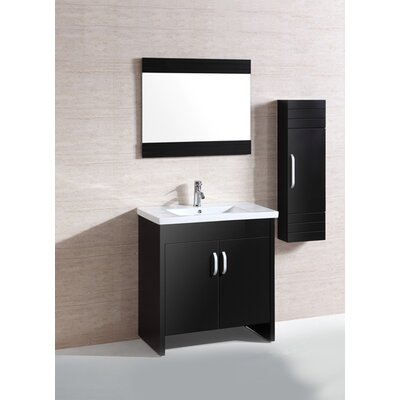 "Legion Furniture 31"" Sink Vanity Set with Mirror and Side Cabinet"